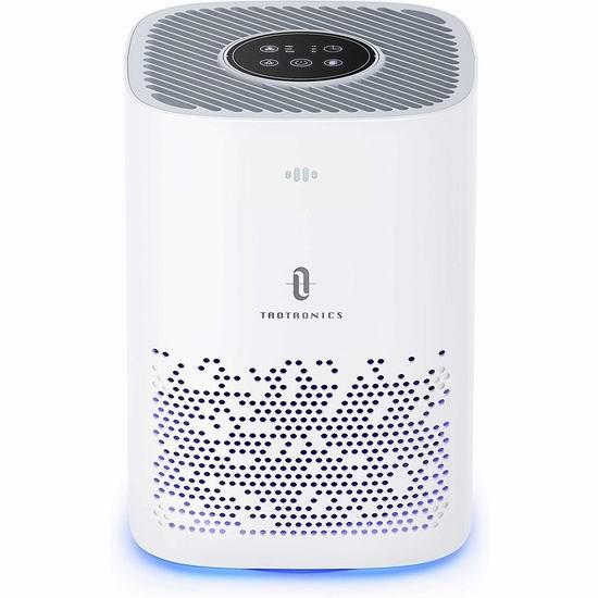 TaoTronics True HEPA 家用空气净化器 99.99加元包邮!免税!