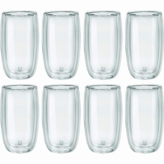 Zwilling 双立人 Sorrento 双层保温玻璃杯(355ml)8件套3.5折 59.99加元包邮!