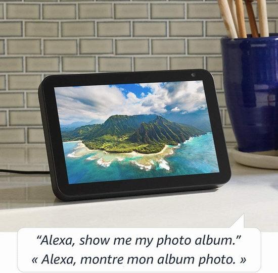 历史最低价!Echo Show 8 大屏智能显示器 + Blink Mini智能安防摄像头4.9折 104.99加元包邮!2色可选!