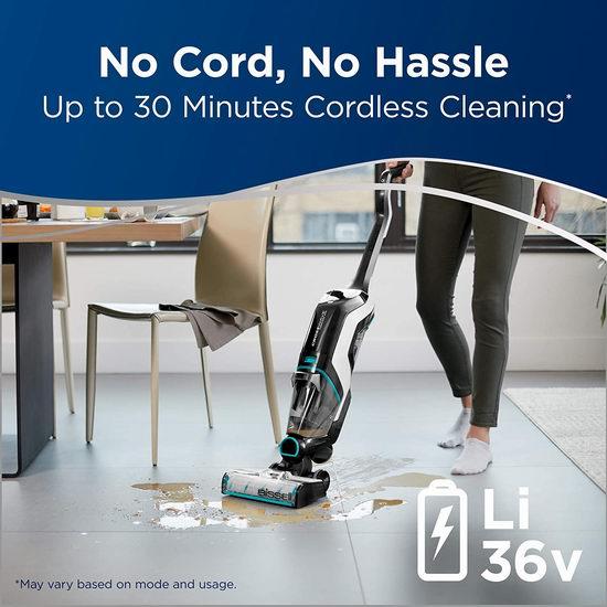 Bissell 必胜 2593B Crosswave 无绳干湿吸尘 拖吸一体 地板地毯清洗机 399.99加元包邮!