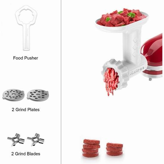 Antree KitchenAid 厨师机专用 绞肉/灌肠通用配件 33.31加元!
