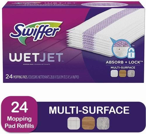 Swiffer Wetjet 一次性拖把湿抹布 24张 11.37加元,原价 15.49加元