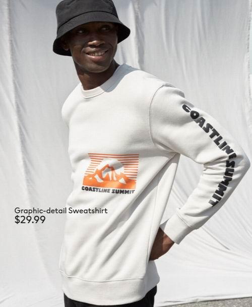 新款加入!H&M男士时尚运动衫 9.99加元起!