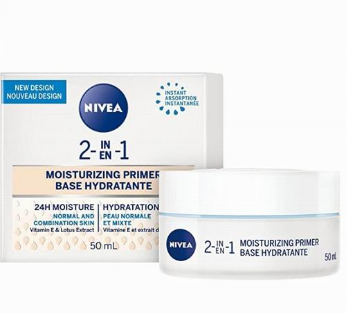 NIVEA 2合1 24小时保湿霜 50毫升 5.2 加元,原价 10.99加元