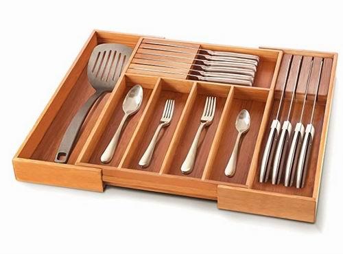 Bambusi 抗菌 竹子餐具抽屉收纳盒  5.8折 34.99加元,原价 59.99加元
