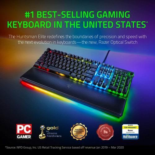 历史最低价!最畅销游戏键盘!Razer Huntsman Elite光学机械轴键盘 7.4折 199.96加元,原价 269.99加元,包邮