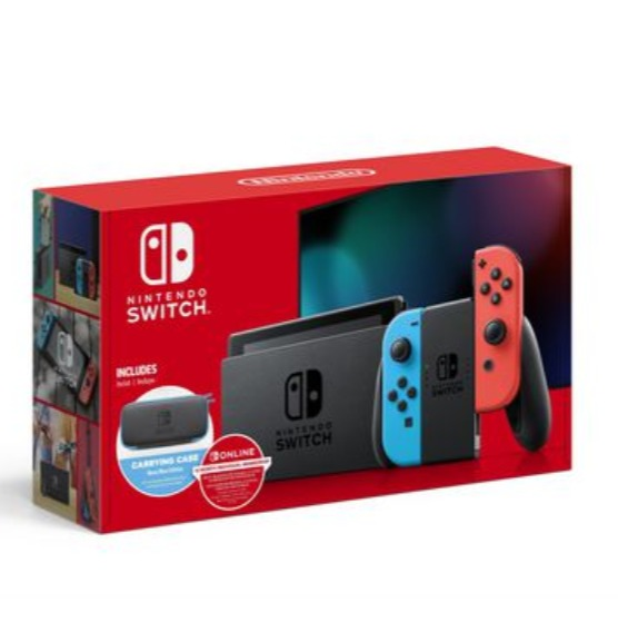 Nintendo 任天堂 Switch 便携式游戏机 399.96加元包邮!送1年会员订阅+收纳包!