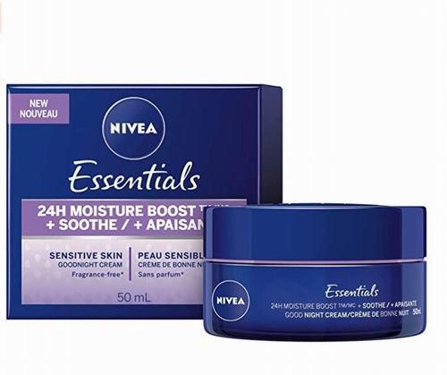 NIVEA Essentials 24H保湿修护舒缓晚霜50毫升 5.62加元,原价 8.97加元