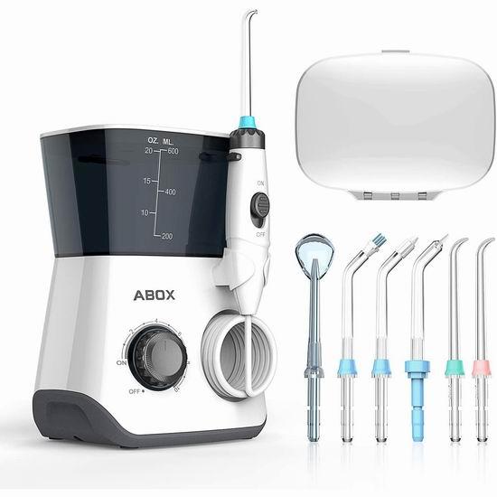 ABOX 600ml FDA认证 电动冲牙器/水牙线 39.99加元包邮!免税!