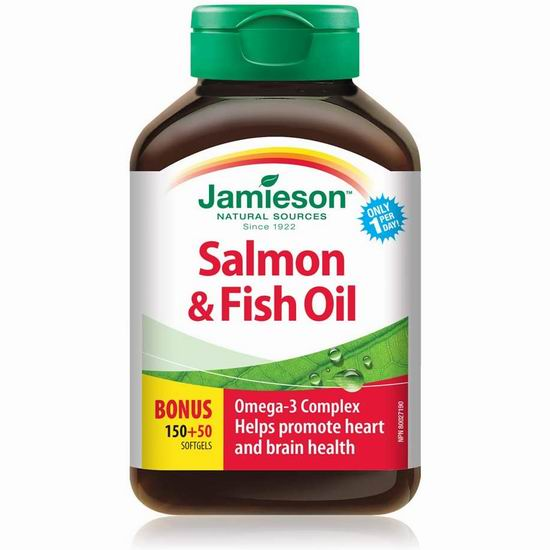 Jamieson 健美生 Omega 3深海鱼油(200粒 ) 6.49加元!