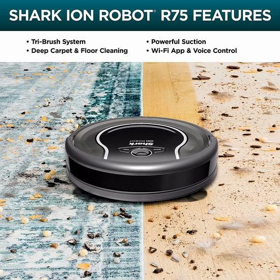 历史最低价!Shark RV750 Ion Robot 750 Wi-Fi 智能真空扫地机器人4.7折 199.99加元包邮!