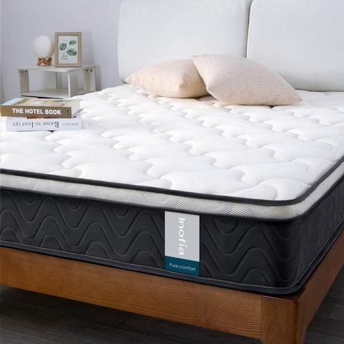 Inofia 8英寸 中等硬度 混合层舒适海绵+独立弹簧Twin床垫 175.9加元,原价 215.9加元,包邮