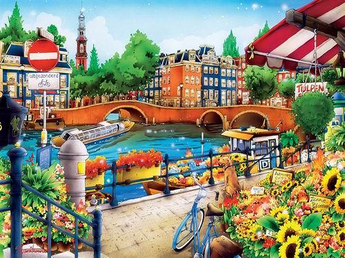 历史最低价!MasterPieces  旅行日记-阿姆斯特丹拼图550件 9.99加元,原价 17.13加元