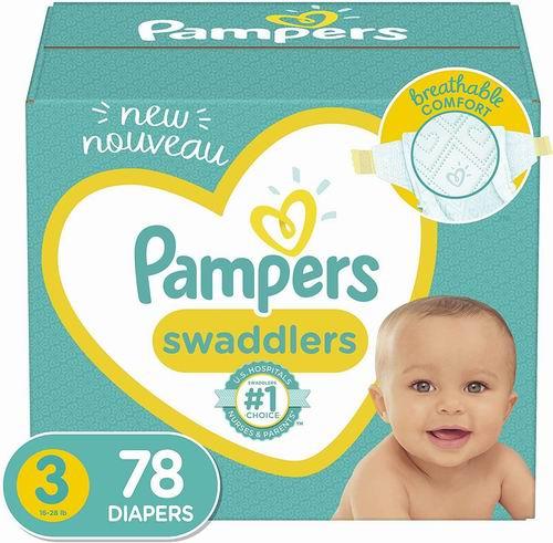 历史最低价!Pampers 帮宝适 Swaddlers 婴幼儿尿不湿/纸尿裤 16.12-18.97加元包邮!Prime会员13.58-15.98加元!