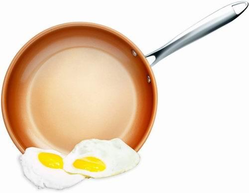 GOTHAM STEEL 2142 大号不粘煎锅 59.97加元(原价 75.2加元),不放油也可煎鸡蛋!