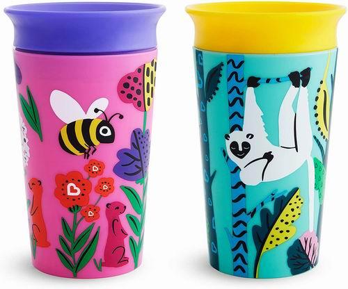 仅限今日!Munchkin Miracle 360度儿童防漏水水杯2件套 6.6折 13.23加元