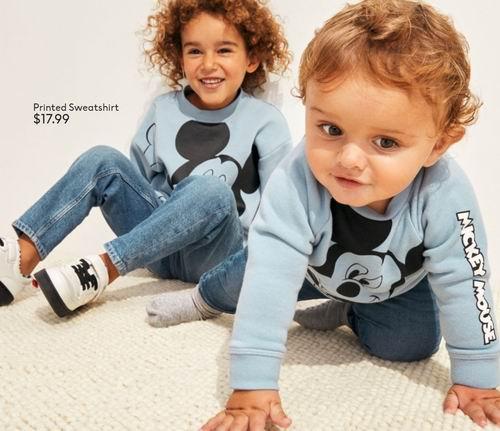 H&M 迪士尼 米奇米妮系列儿童夹克、卫衣、毛衣、套头衫 9.99加元起,手慢断码