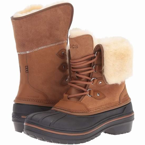 Crocs卡洛驰官网精选雪地靴、洞洞鞋、凉鞋等4折起+变相额外8折!入封面款豪华羊毛真皮雪地靴!