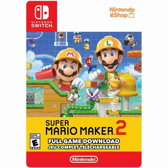 历史新低!《Super Mario Maker 超级马里奥创作家 2》Nintendo Switch 数字下载版7折 55.99加元!