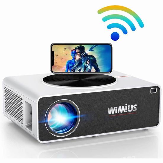WiMiUS 原生1080P 7500流明 WiFi无线 家庭影院投影仪 237.99加元限量特卖并包邮!