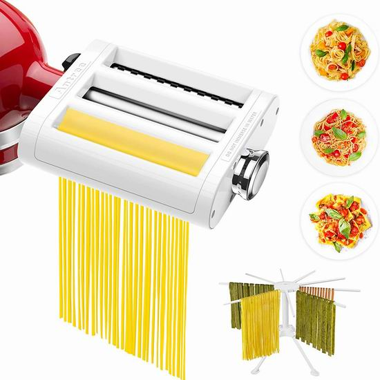 历史新低!ANTREE KitchenAid 厨师机专用 三合一面条/压面切面器配件 93.91加元限量特卖包邮!