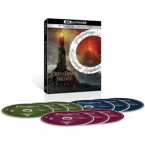 金盒头条:历史新低!《Lord of the Rings 指环王》三部曲全集 4K完整版及剧场版蓝光影碟+数字版6折 67.99加元包邮!
