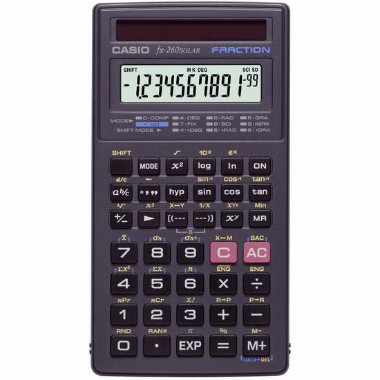 Casio 卡西欧 fx-260 太阳能科学计算器5.2折 11加元!