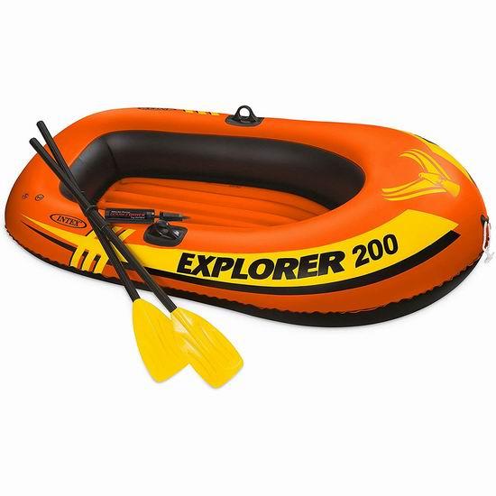 Intex Explorer 200 双人充气船+船桨套装6.3折 26.54加元!