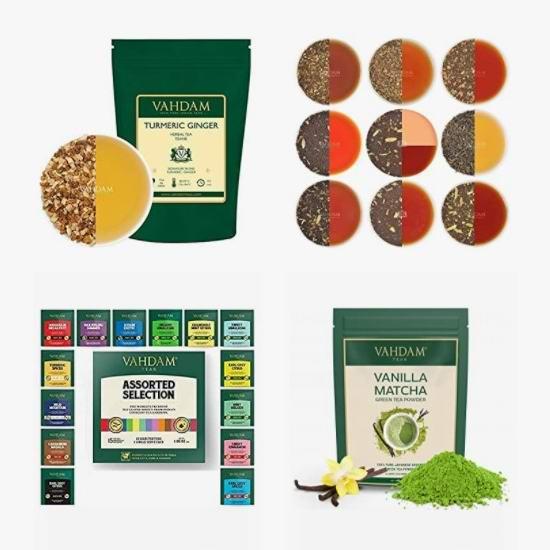 金盒头条:精选多款 Vahdam 绿茶、红茶、凉茶、茶包、抹茶粉6.2折起!