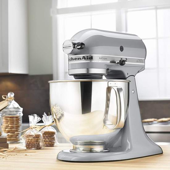 KitchenAid 厨宝 KSM150PSMC Artisan 名厨系列 5夸脱多功能厨师机6.4折 349.99加元包邮!2色可选!