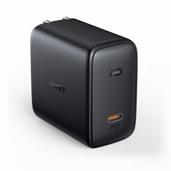 历史新低!AUKEY Omnia 100瓦 PD 3.0 USB-C 智能快速USB充电器/笔记本电源 45.99加元包邮!