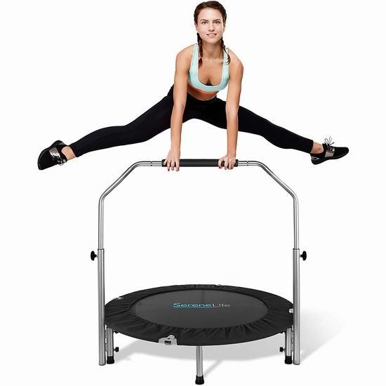 历史新低!SereneLife 可折叠健身蹦床 90.99加元包邮!