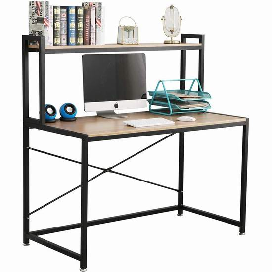sogesfurniture 47.2英寸 时尚电脑桌/书桌 109加元限量特卖并包邮!