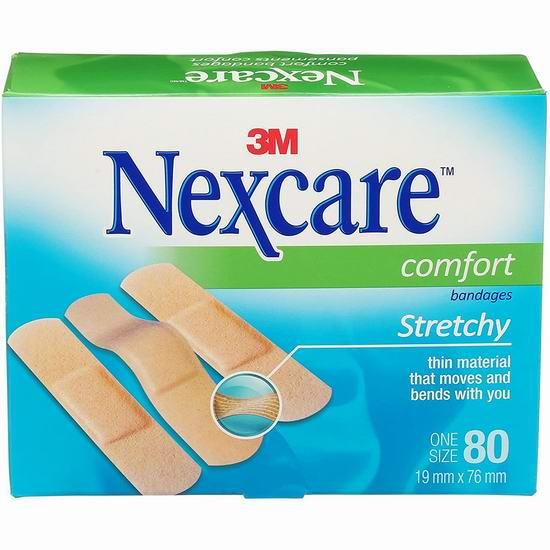 历史新低!3M Nexcare Comfort 创可贴(80张)5折 3.98加元!