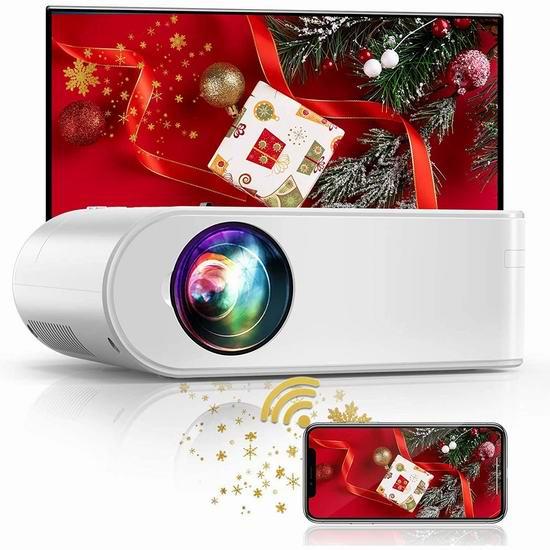 YABER V2 Mini 原生720P WiFi无线 LED家庭影院投影仪 149.99加元限量特卖并包邮!送投影幕布!