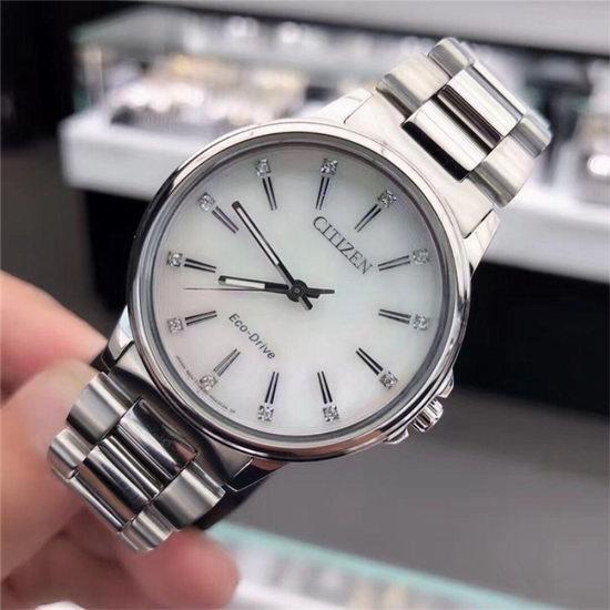 历史新低!Citizen 西铁城 FE7030-57D 施华洛世奇水晶 光动能 女式腕表/手表3.8折 145加元包邮!