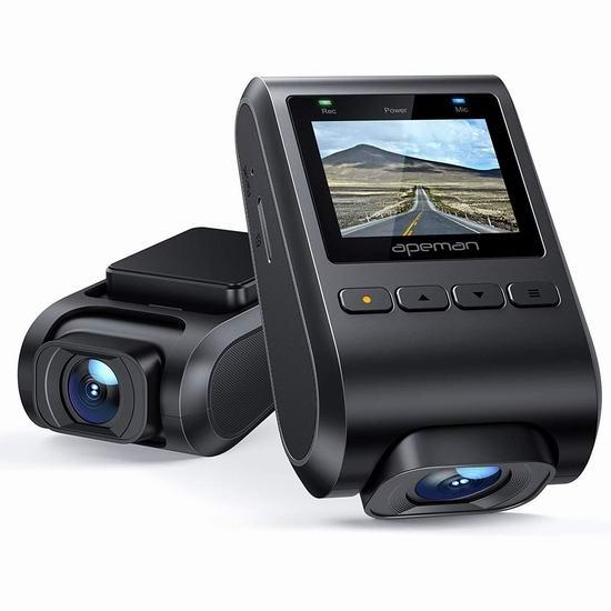 APEMAN 1080P全高清 大广角 迷你行车记录仪 39.99加元包邮!