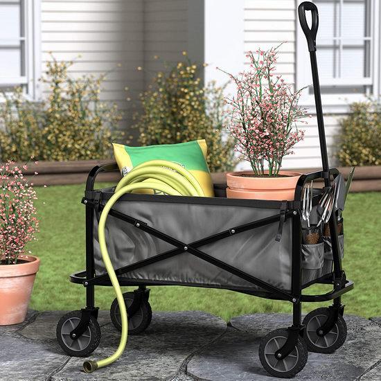 AmazonBasics 打理庭院/户外野餐好物 可折叠四轮拖车 83.3加元包邮!