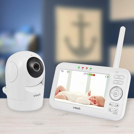 历史新低!看娃神器 VTech 伟易达 VM5262 数字视频 超大屏幕 婴儿监视器套装5.5折 99.71加元包邮!