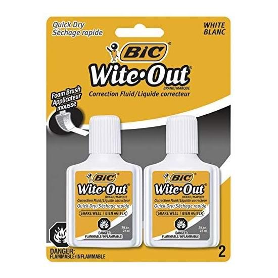 历史新低!BIC Wite-Out 速干修正液/涂改液2瓶 2加元!