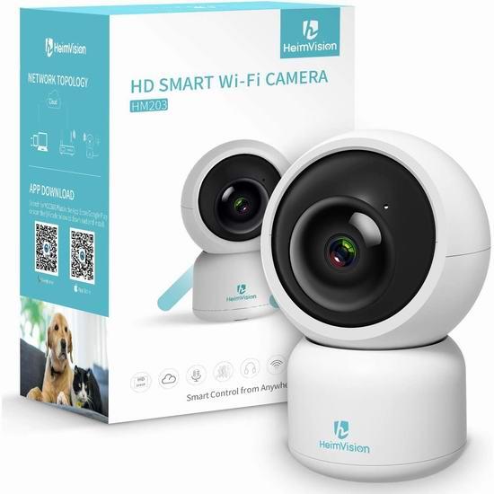 HeimVision HM203 1080P 无线Wi-Fi智能安全监控摄像头7.5折 29.99加元!