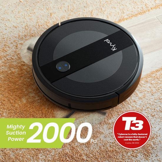 历史新低!Kyvol Cybovac E20 2000Pa超强吸力 WiFi智能扫地机器人6.5折 193.79加元包邮!