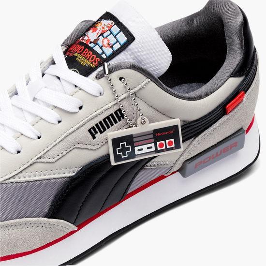 PUMA x Nintendo 任天堂 NES 联名款 Future Rider 大童运动鞋 90加元包邮!