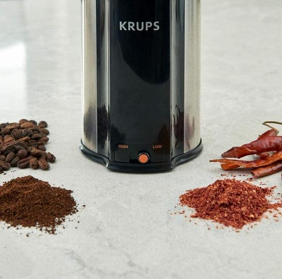 历史新低!KRUPS GX336D50 Ultimate 三合一 超静音强力 咖啡豆/香料/药材研磨机5折 39.99加元包邮!