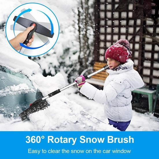 历史新低!Fivkle 三合一 便携式雪铲/除冰铲/除雪刷5折 19.99加元包邮!