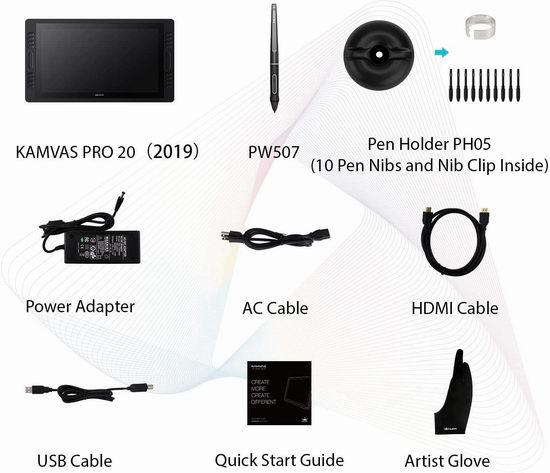 HUION 绘王 KAMVAS 凯卓 Pro 20 19.5英寸专业数位屏 679.15加元限量特卖并包邮!
