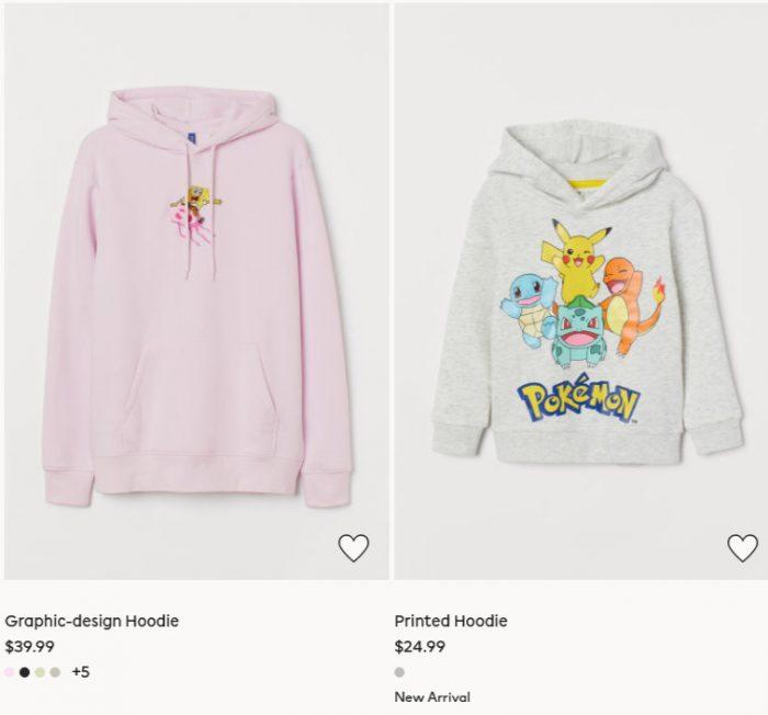 新款加入!H&M成人儿童纯色、卡通卫衣 10.99加元起!迪士尼系列大量上新!