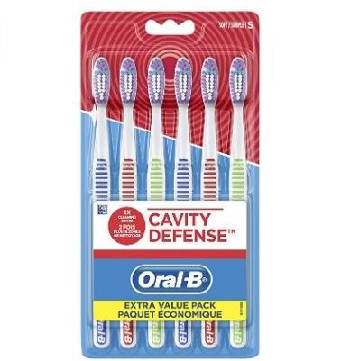 Oral-B强力防蛀牙刷 6支 4.74加元,每支仅0.79加元