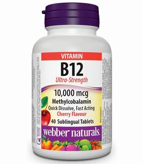 Webber Naturals 维生素B12 1000毫克甲基钴胺素 舌下含片40片 11.97加元,原价 13.97加元