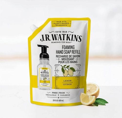 J.R. Watkins 柠檬香型洗手液补充装 828升 5.99加元